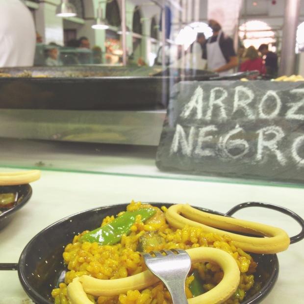 mercado de feria, seville, paella, tapas
